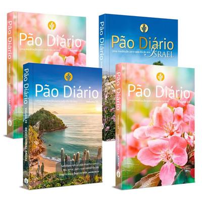 Combo - 4 livros Pão Diário 2020 - Pão Diário