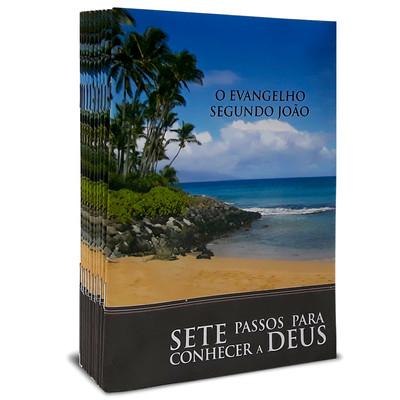 Combo 10 Livretos Evangelísticos - 7 Passos Para se Conhecer a Deus