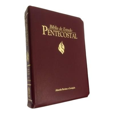 Bíblia de Estudo Pentecostal - Grande (Luxo Vinho)