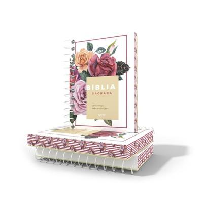 Bíblia NVI - Com Espaço Para Anotações Espiral - Floral