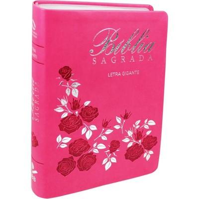 Bíblia Sagrada NAA - Letra Gigante (Rosa)