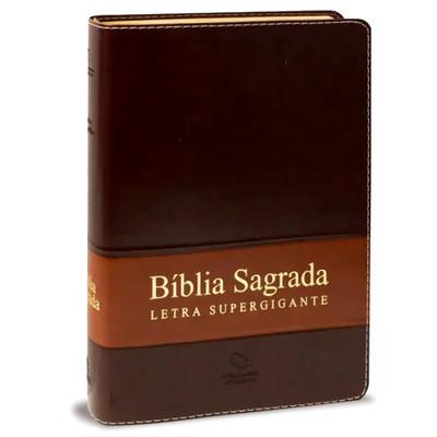 Bíblia Sagrada Supergigante NAA (Luxo Marrom)