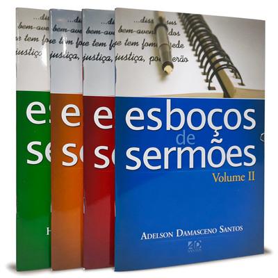 Combo 4 Livros - Esboços de Sermões