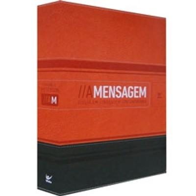 Bíblia A Mensagem (Luxo Laranja e Verde)