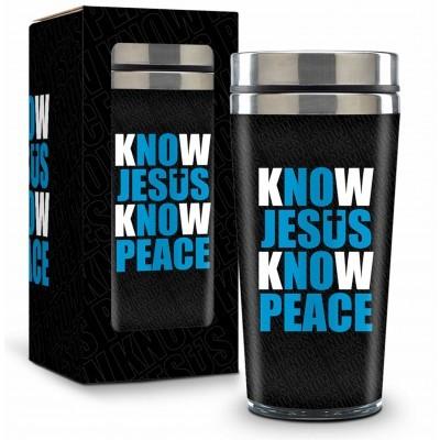 Copo Inox Térmico - Know Jesus Know Peace