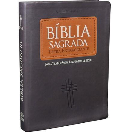 Bíblia NTLH Letra Extragigante (Couro sintético, marrom)