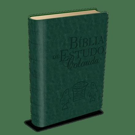 Bíblia de Estudo Colorida - Verde
