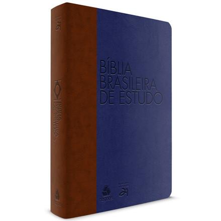 Bíblia Brasileira de Estudo - Azul e Marrom