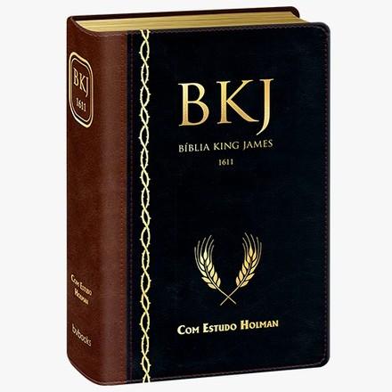 Bíblia de Estudo King James 1611 (Marrom com Preto)