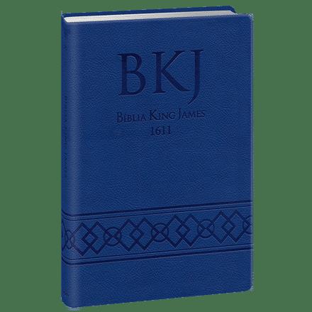 Bíblia King James 1611 Ultra Fina Gigante (Azul)