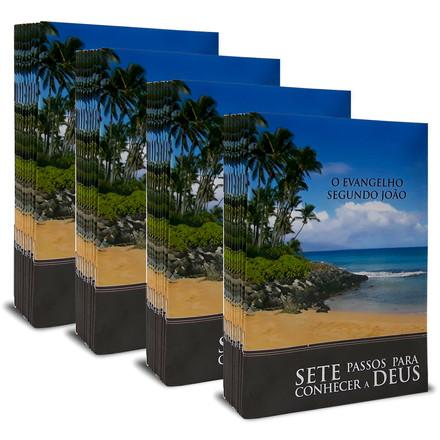 Combo 40 Livretos Evangelísticos - 7 Passos Para se Conhecer a Deus