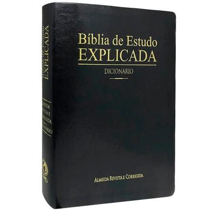 Bíblia de Estudo Explicada com Dicionário (Preta)