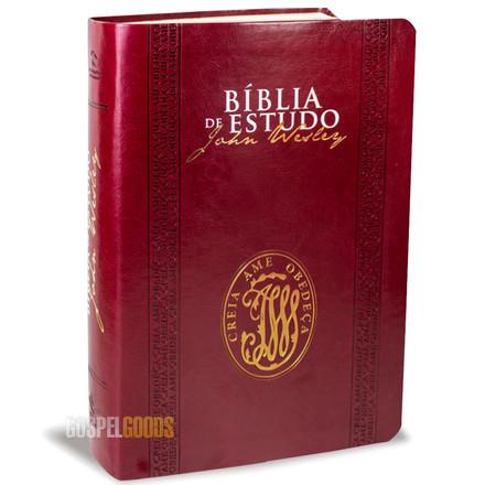 Bíblia de Estudo John Wesley (Luxo Vinho)