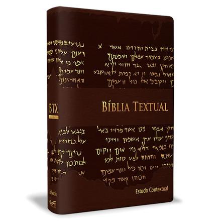 Bíblia Textual - Luxo Marrom