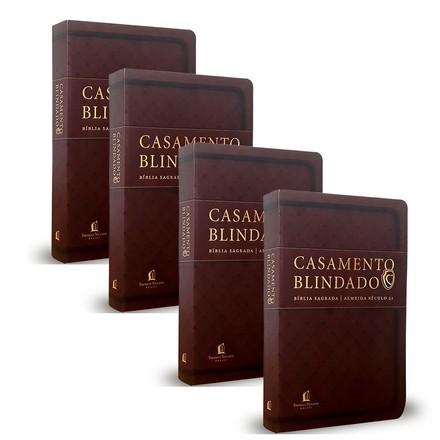 Combo 4 Bíblias Casamento Blindado