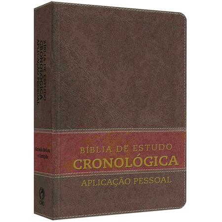 Bíblia de Estudo Cronológica Aplicação Pessoal (Capa Luxo Marrom)