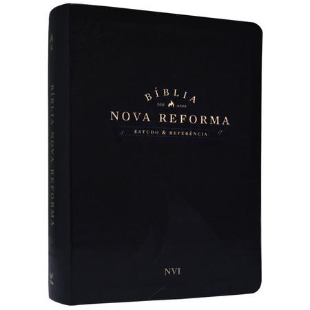 Bíblia Nova Reforma - NVI - Luxo Preta