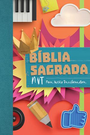 Bíblia NVT - Colagem (letra normal/brochura c/ orelhas)