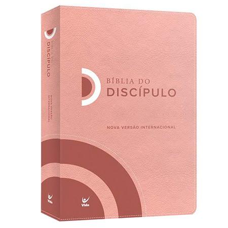 Bíblia do Discípulo - Capa Luxo Rosa