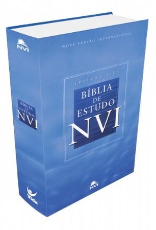 Bíblia de Estudo NVI (Capa Dura   Azul Celeste)