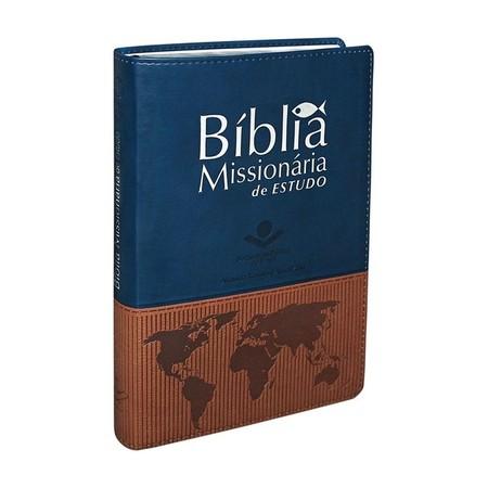 Bíblia Missionária de Estudo (Azul e Marrom)
