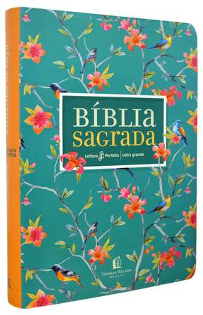 Bíblia NVI Leitura Perfeita -  Capa Flores Letra Grande