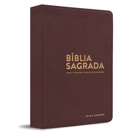 Bíblia NVT - Letra grande (Luxo - Marrom)
