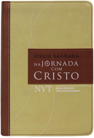 Bíblia Sagrada Na jornada com Cristo NVT (Marrom)