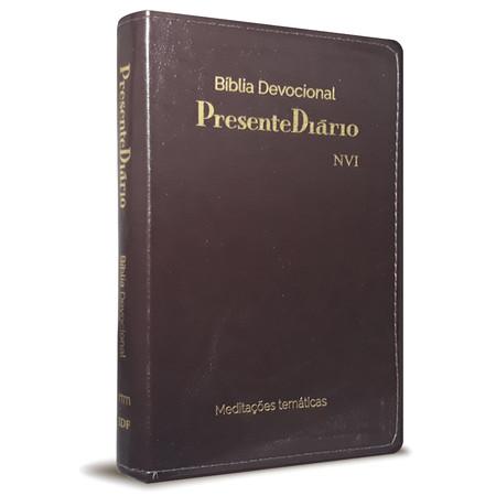 Bíblia Devocional Presente Diário (Luxo Marrom)