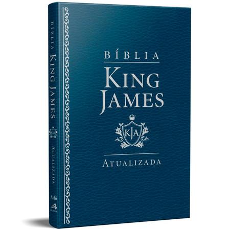 Bíblia King James - Atualizada Slim (Luxo Azul)