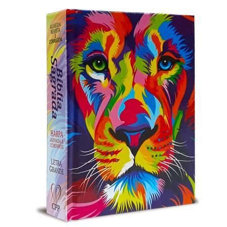 Bíblia Leão Média (Capa Aquarela)