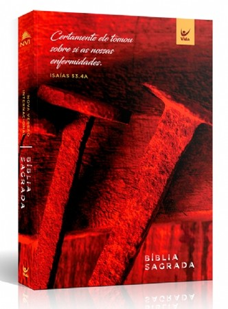 Bíblia NVI Brochura - Cravos (Vermelha)