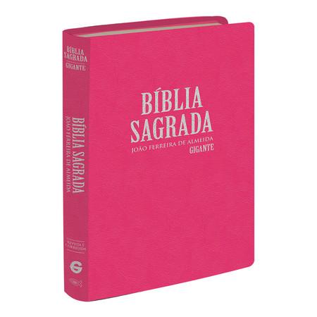 Bíblia Sagrada RC - Letra Gigante (Semi-luxo Rosa)