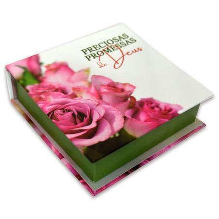 Caixinha com Preciosas Promessas (Rosa e Branca)