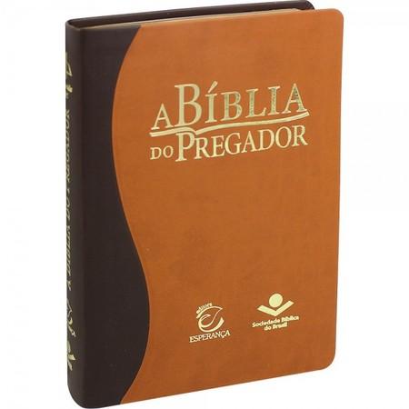 A Bíblia do Pregador (Média   Marrom Claro e Escuro)
