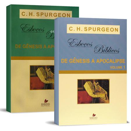 Combo 2 Livros - Esboços de Charles Spurgeon de Gênesis a Apocalipse