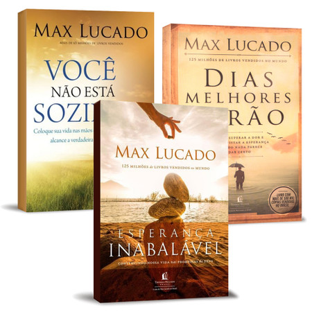 Combo 3 Livros Max Lucado