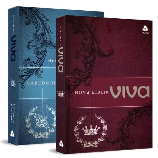 Bíblia Viva + Devocional Sabedoria Bíblica (Hernandes Dias Lopes)