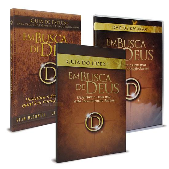 Kit Em Busca de Deus - Guia de Estudo, Guia do Líder e DVD