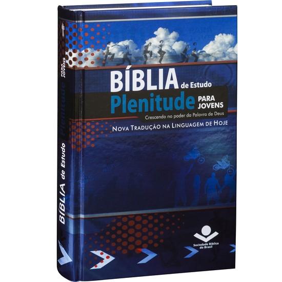 Bíblia de Estudo Plenitude para Jovens (Capa céu - azul)