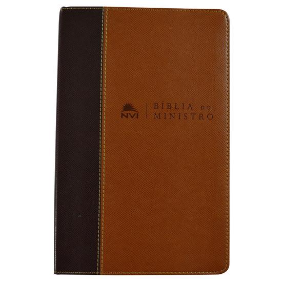Bíblia do Ministro NVI (Marrom claro e marrom escuro)