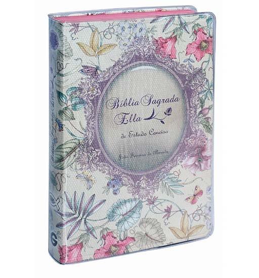 Bíblia Sagrada Ella de Estudo Conciso - Capa Luxo Floral