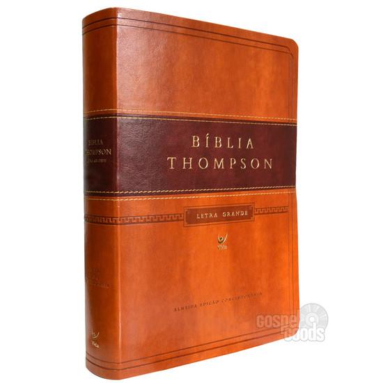 Bíblia Thompson Letra Grande (Marrom Claro e Escuro)