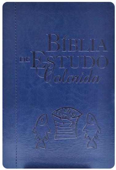 Bíblia de Estudo Colorida - Azul