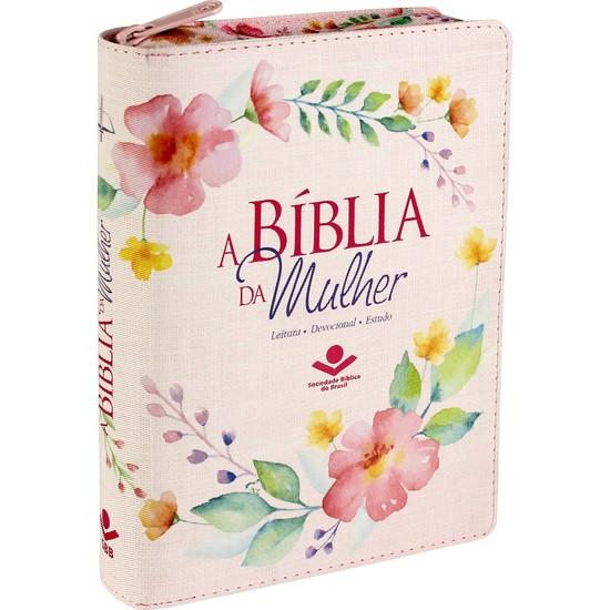 A Bíblia da Mulher - RC (Com zíper e índice - Flores Delicadas)