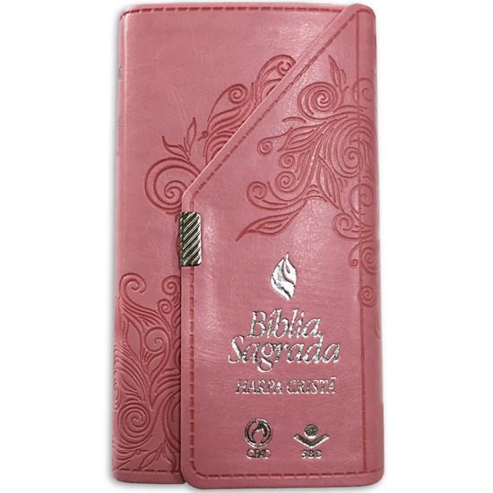 Bíblia Carteira Com Harpa (Rosa)