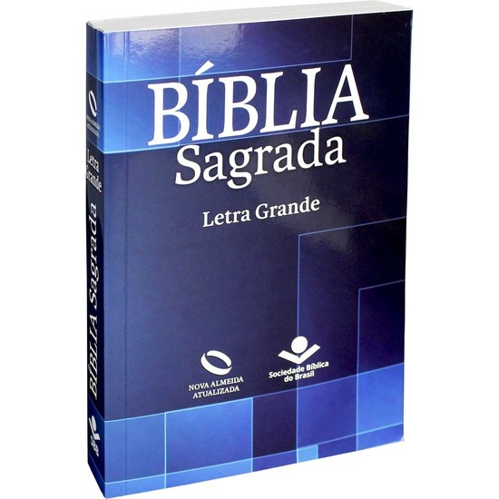 Bíblia Sagrada - NA (Brochura Azul) Letra Grande
