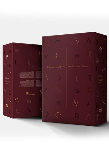 Bíblia de Estudo Nova Versão Transformadora (Luxo Vinho)