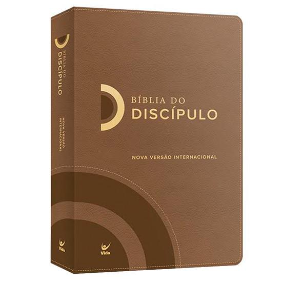 Bíblia do Discípulo - Capa Luxo Marrom