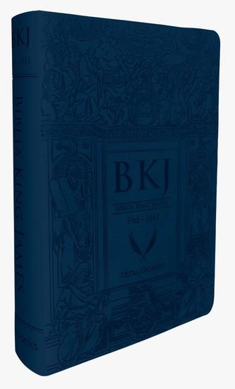 Bíblia King James 1611 (Letra Ultra Gigante - Azul)